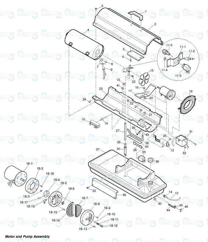 Тепловая пушка pfg схема